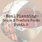 Meal Planning Month 9