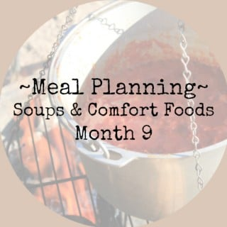 meal planning soup and comfort food recipes