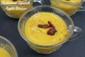 Butternut Squash Soup with Apple | www.realthekitchenandbeyond.com