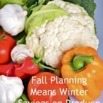 How to Save Money on Produce for Winter