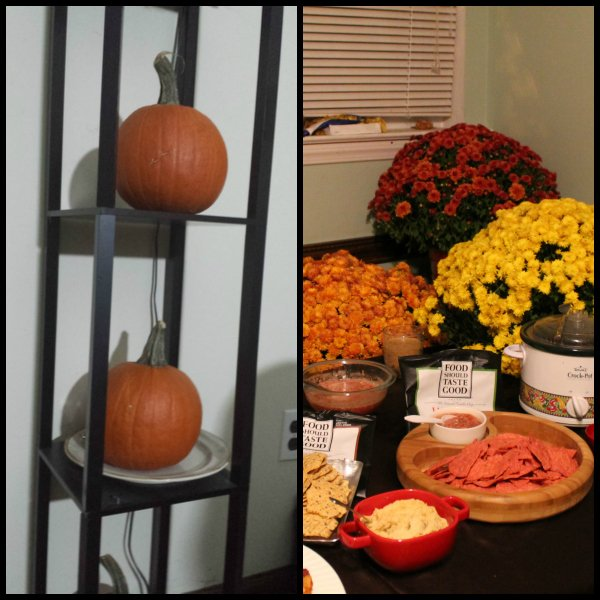 fall party decor ideas with #craftingbetterchips  at www.realthekitchenandbeyond.com