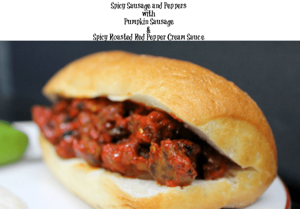 Gourmet Sausage and Pepper Sandwiches with Spicy Roasted Red Pepper Cream Sauce
