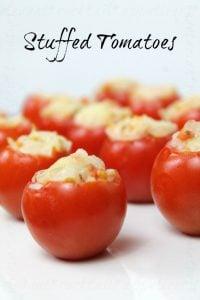vegetarian stuffed tomatoes | www.realthekitchenandbeyond.com