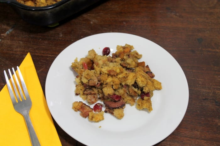 Gluten-free Stuffing Recipe with Sausage and Cranberries