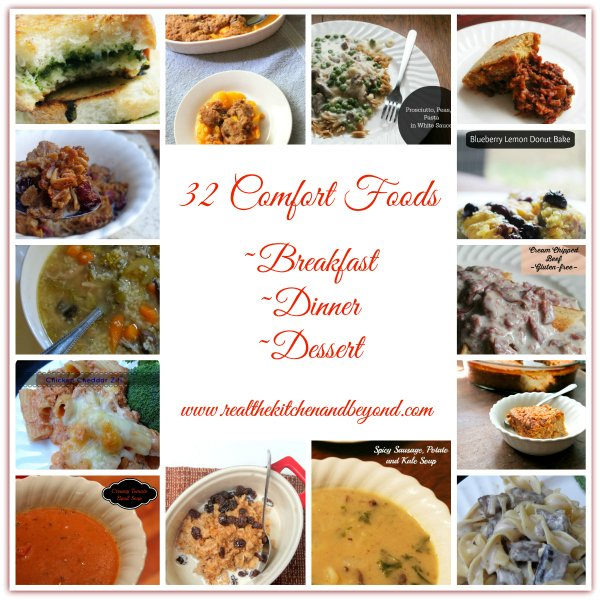 32 comfort food recipes | www.realthekitchenandbeyond.com