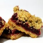 Cranberry Ginger Crumble Bars