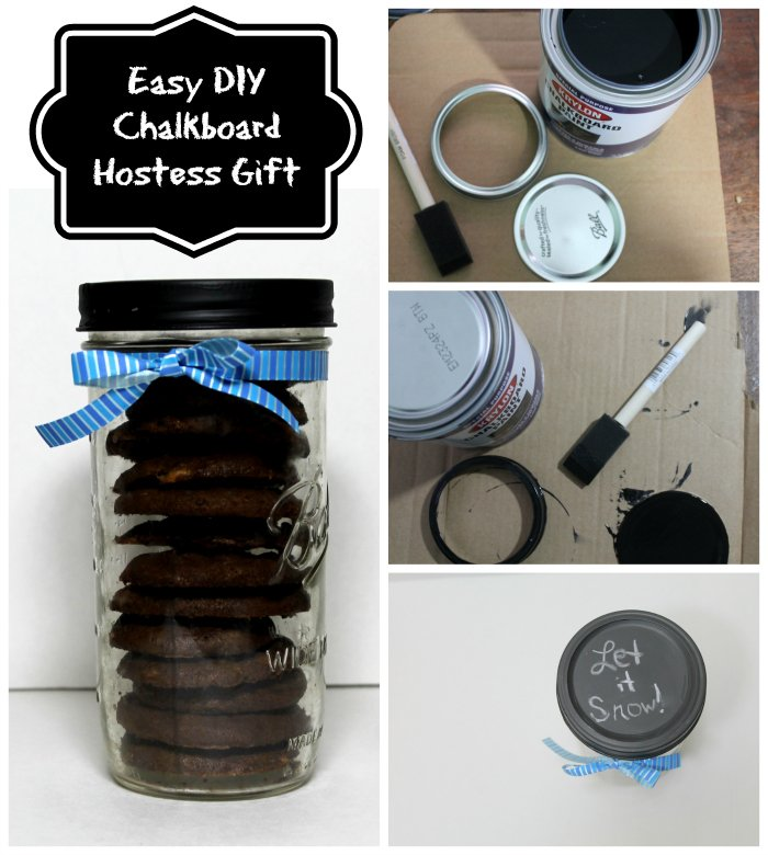Easy DIY Chalkboard Hostess Gift | www.realthekitchenandbeyond.com