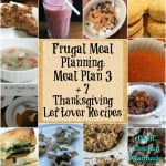 Frugal Meal Planning: Meal Plan 3
