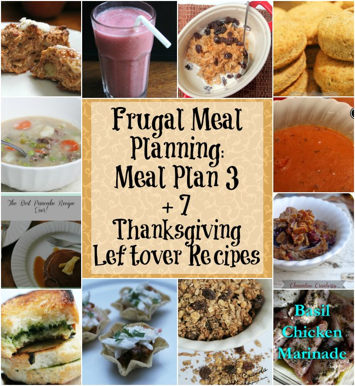 Frugal Meal Planning Meal Plan 3