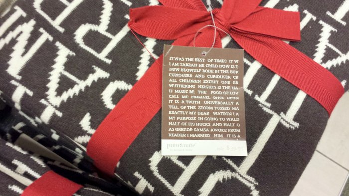 cozy blankets with excerpts from books