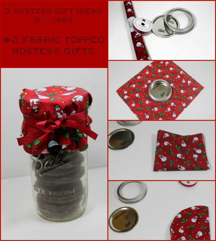 fabric topped hostess gift idea | www.realthekitchenandbeyond.com