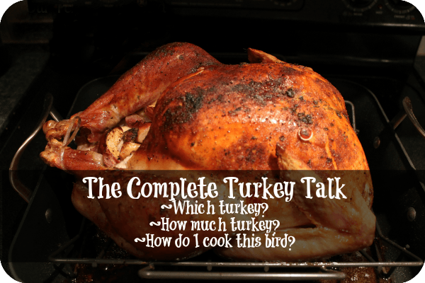 The Complete Turkey talk - how to choose a turkey, how much turkey do you need, how to cook a turkey |www.realthekitchenandbeyond.com