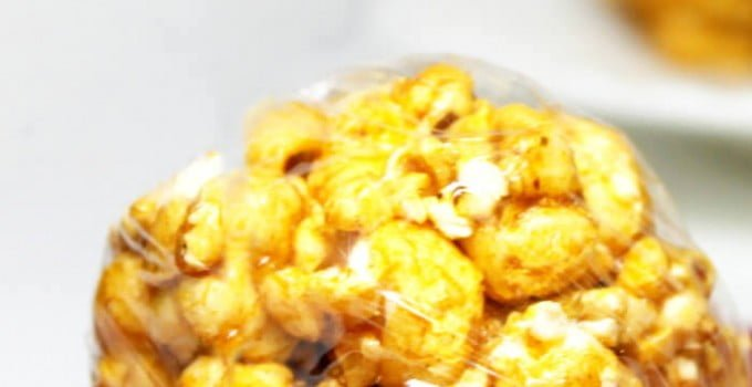 Sweet and Spicy Sriracha Popcorn Balls
