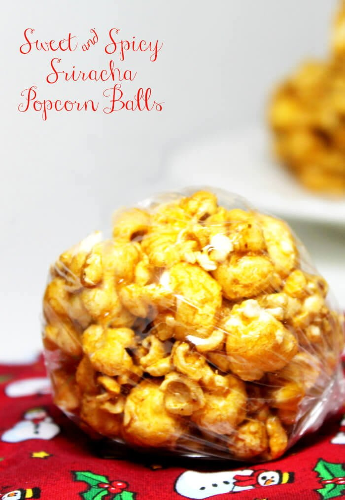 Sweet and Spicy Popcorn Ball Recipe | www.realthekitchenandbeyond.com