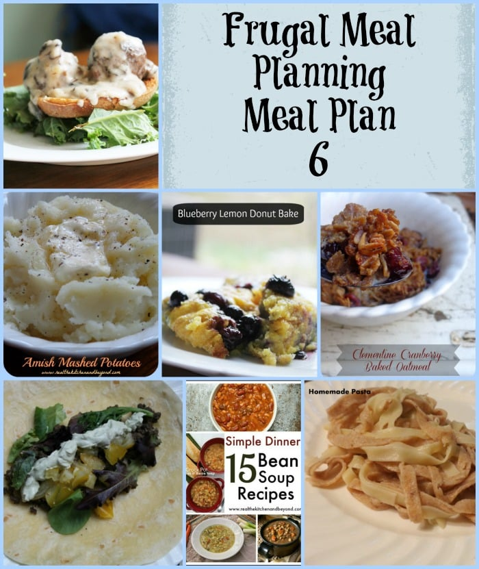 Frugal Meal Planning Meal Plan 6 | www.realthekitchenandbeyond.com