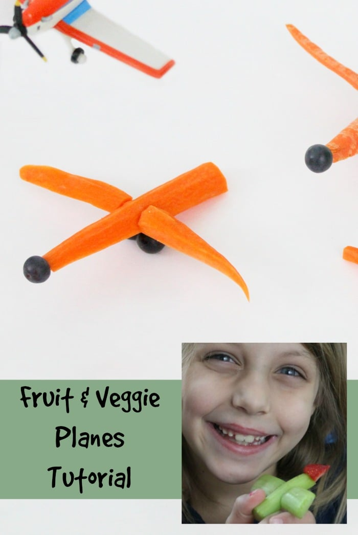 Fun with food fruit and veggie planes tutorial | www.realthekitchenandbeyond.com