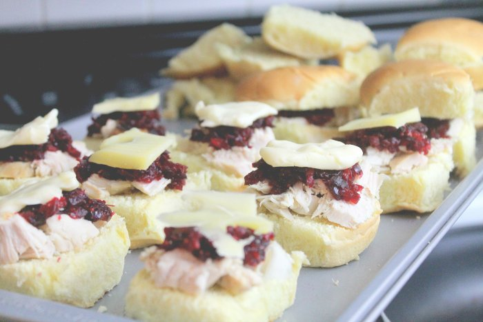 Holiday Party Recipes Chipotle Turkey Cranberry Sandwich Prep | www.realthekitchenandbeyond.com