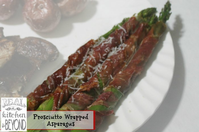Easy Asparagus Recipes Prosciutto Wrapped Asparagus | www.realthekitchenandbeyond.com