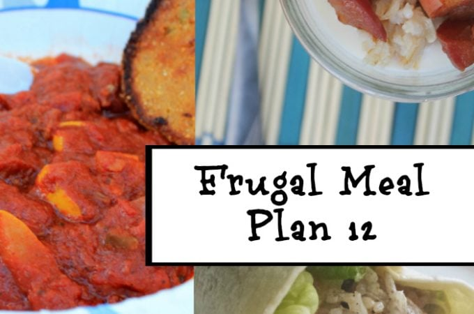 Frugal Meal Planning: Meal Plan 12