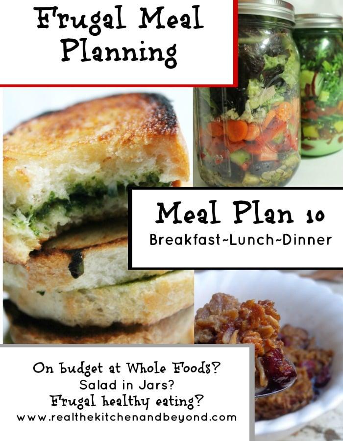 Frugal meal planning meal plan 10 | www.realthekitchenandbeyond.com