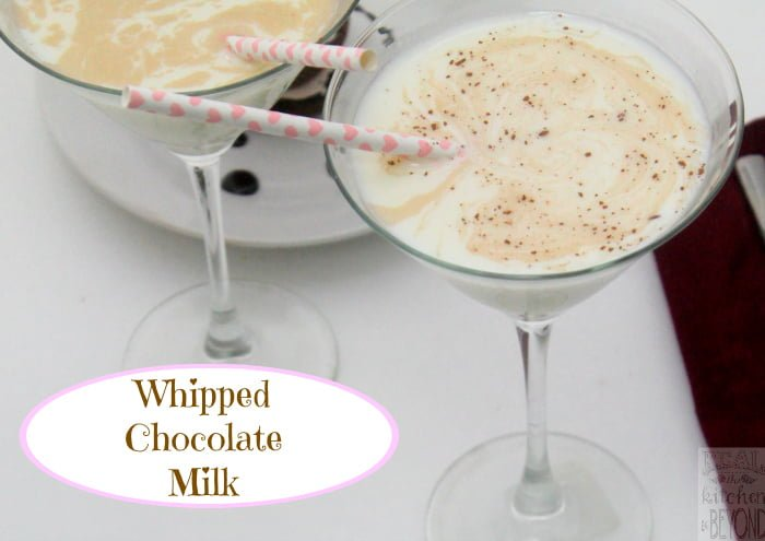 Quick and Easy Cocktail Recipe: Whipped Chocolate Milk is a great adult version of milk to pair with a rich chocolate dessert.| www.realthekitchenandbeyond.com