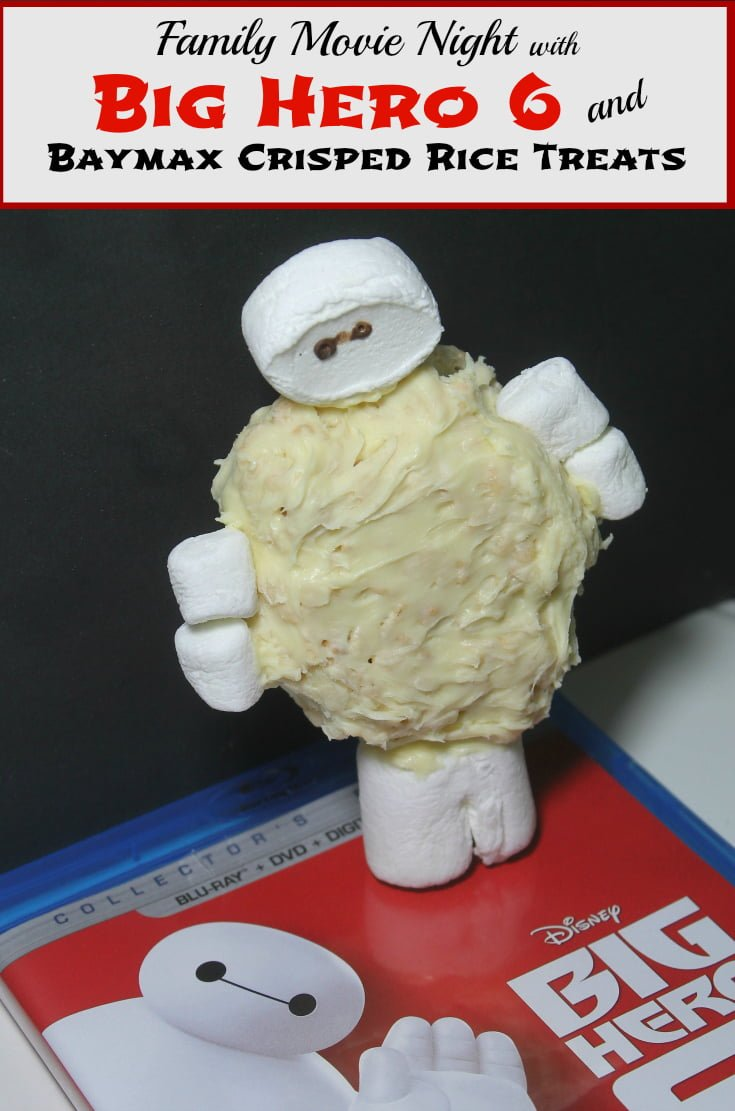 Family Movie Night: Big Hero 6 Baymax Crisped Rice Treats - www.realthekitchenandbeyond.com