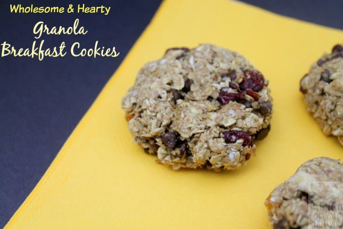 Granola Breakfast Cookies with Mariani Dried Fruit | www.realthekitchenandbeyond.com