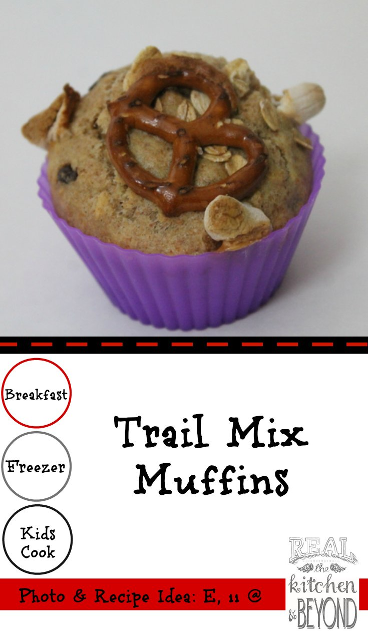 Kids Cook: Trail Mix Muffins | www.realthekitchenandbeyond.com