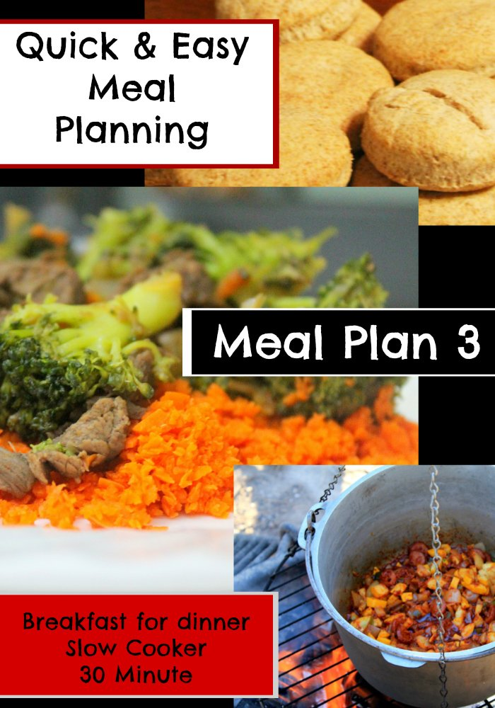 Quick Easy Meal Planning: Meal Plan 3 - www.realthekitchenandbeyond.com