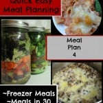 Quick Easy Meal Planning: Meal Plan 4