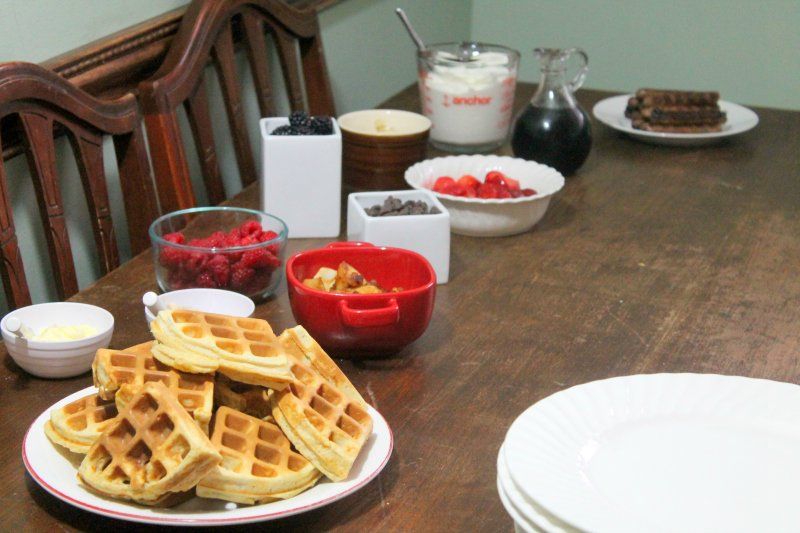 Frugal Birthday Party Waffle Bar Breakfast - Real: The Kitchen and Beyond