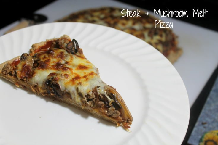 Homemade Pizza Recipes: Steak and Mushroom Melt Pizza Slice - Real: The Kitchen and Beyond