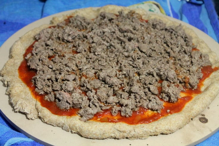 Homemade Pizza Recipes: Steak and Mushroom Melt Pizza Step 2 - Real: The Kitchen and Beyond