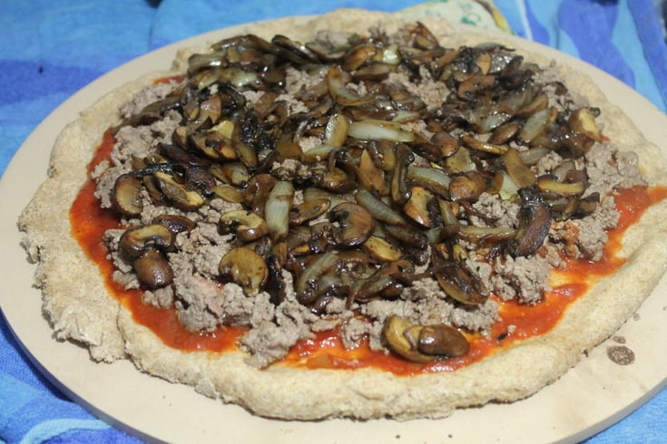 Homemade Pizza Recipes: Steak and Mushroom Melt Pizza Step 3 - Real: The Kitchen and Beyond