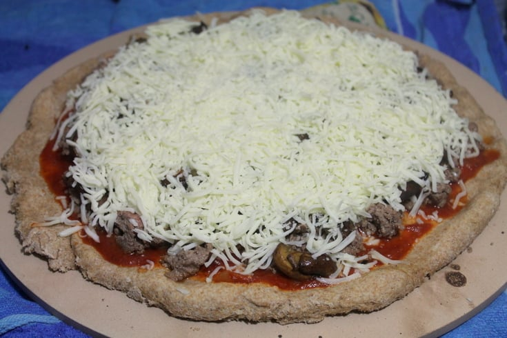 Homemade Pizza Recipes: Steak and Mushroom Melt Pizza Step 4 - Real: The Kitchen and Beyond