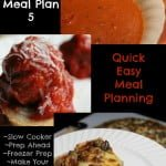 Quick Easy Meal Planning: Quick Easy Meal Plan 5