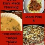 Quick Easy Meal Planning: Meal Plan 8