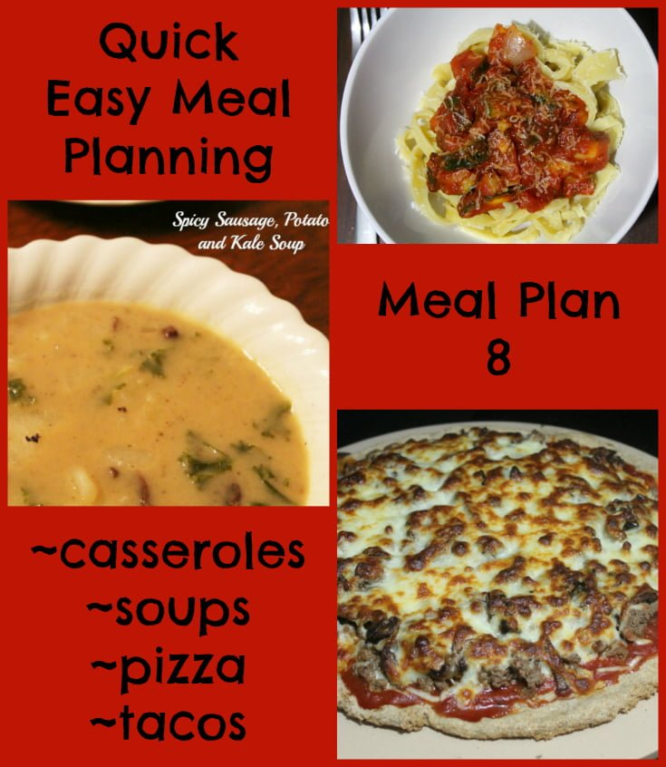 Quick Easy Meal Planning Meal Plan 8 - Real: The Kitchen and Beyond