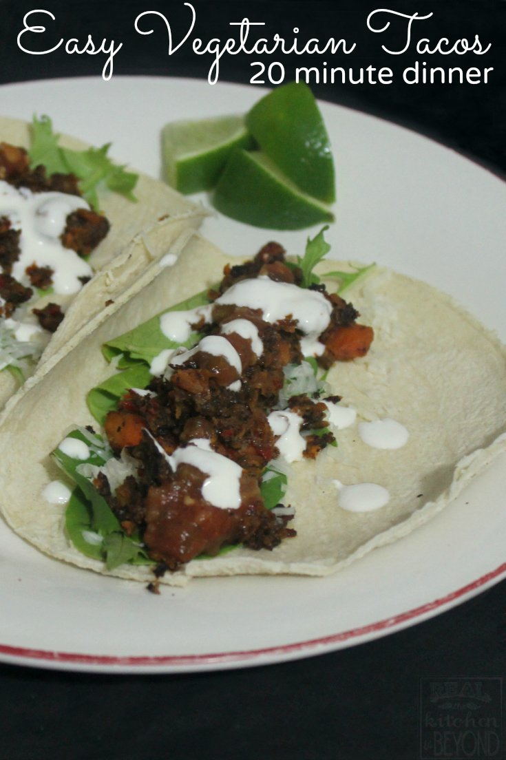 Easy Vegetarian Tacos - Real: The Kitchen and Beyond