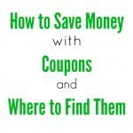 How to Save Money with Coupons 1