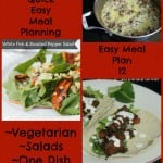 Quick Easy Meal Planning: Easy Meal Plan 12