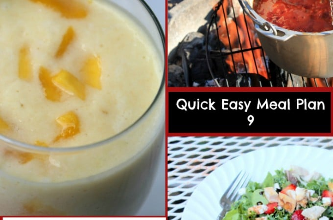 Quick Easy Meal Planning: Easy Meal Plan 9