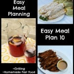 Quick Easy Meal Planning: Easy Meal Plan 10