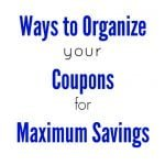 How to Save Money With Coupons: Organization