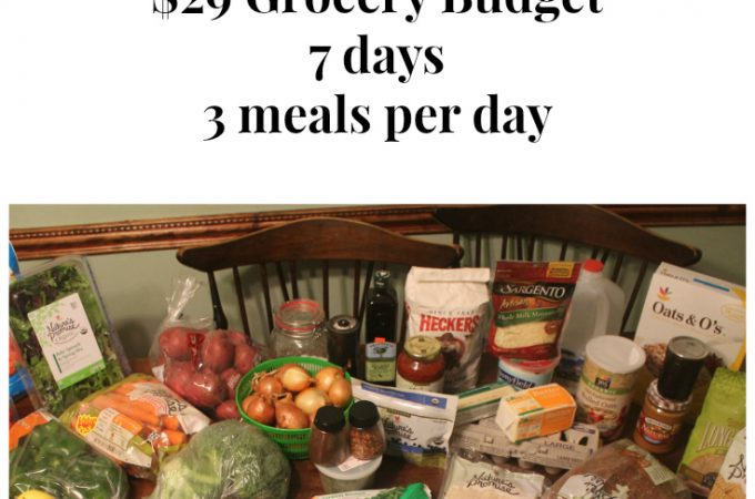 $29 Grocery Budget Challenge: Meal Plan 1