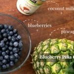 Blueberry Piña Coladas {Mocktail or Cocktail}