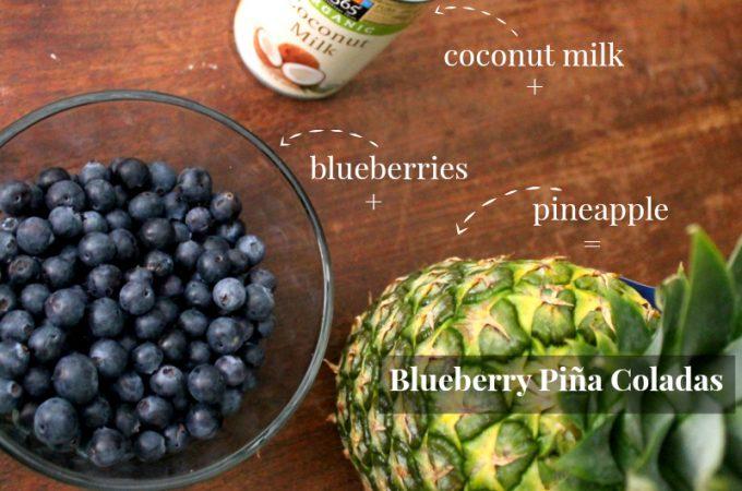 Blueberry Piña Coladas {Mocktail or Cocktail}