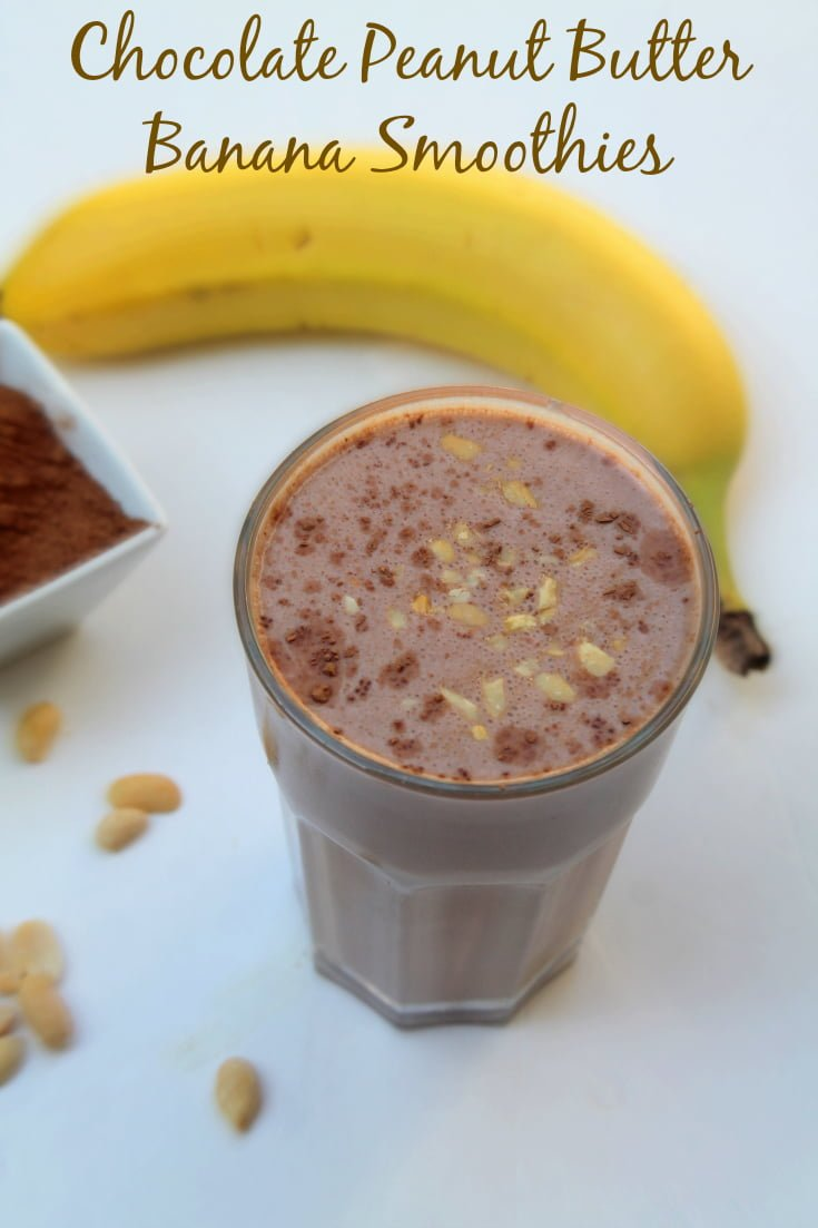 Banana Peanut Butter Smoothies - Real: The Kitchen and Beyond