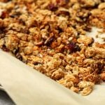 Chocolate Cranberry Homemade Granola