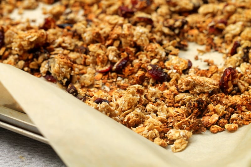 Chocolate cranberry homemade granola real the kitchen and beyond chocolate cranberry homemade granola recipe real the kitchen and beyond ccuart Choice Image